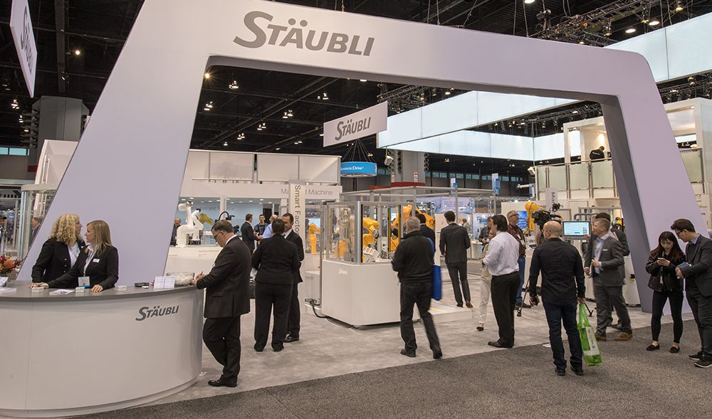 Stäubli Robotics booth at Automate
